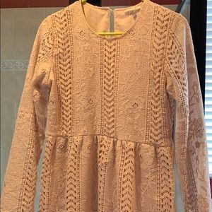 Crochet Dress, Blush
